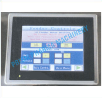 PLC controls with HMI Touch Screen